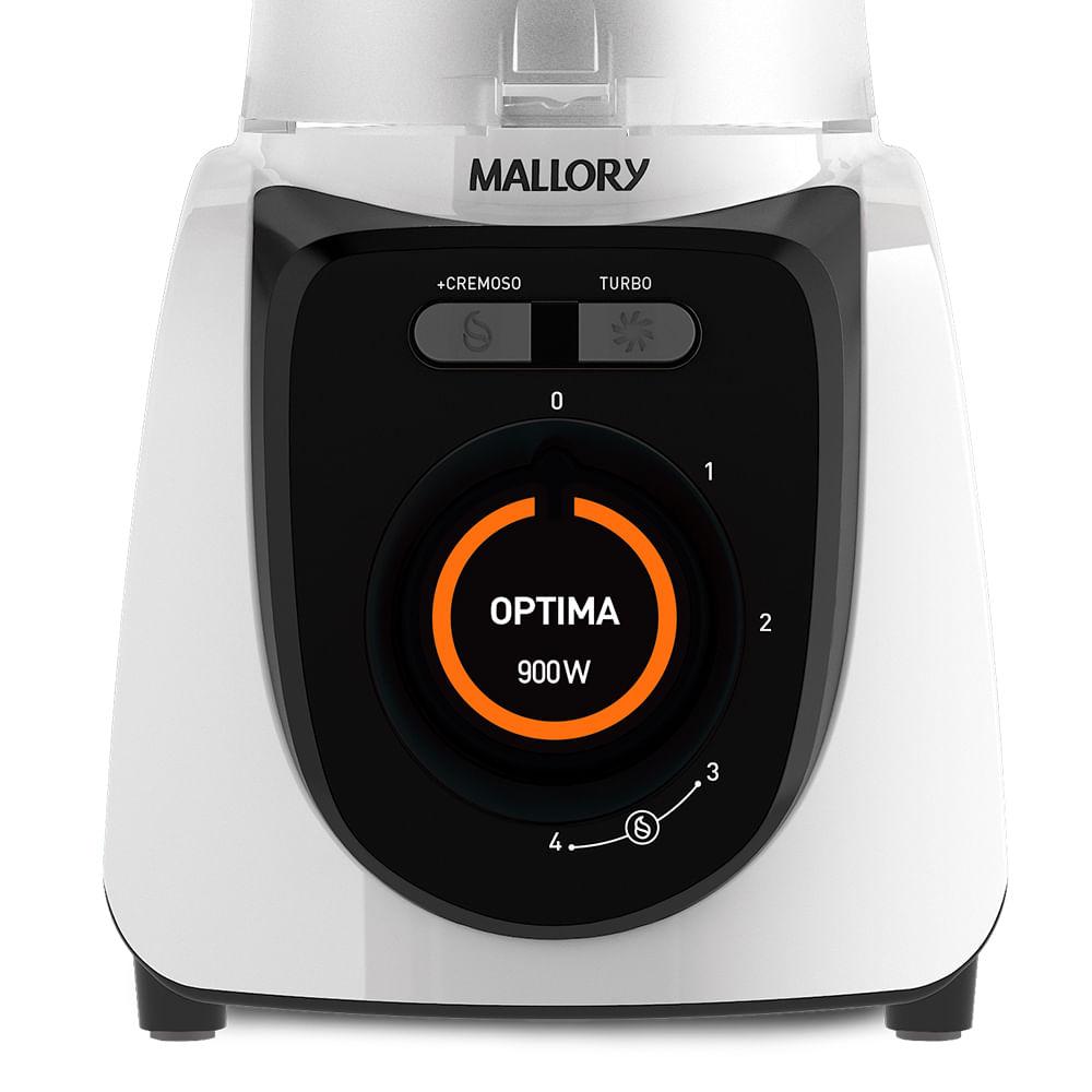 Liquidificador Mallory Optima Power Branco 900w