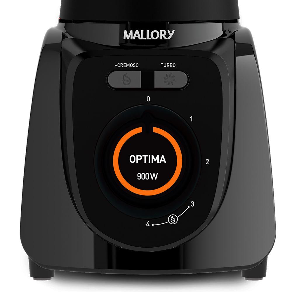 Liquidificador Mallory Optima Glass Preto 900w