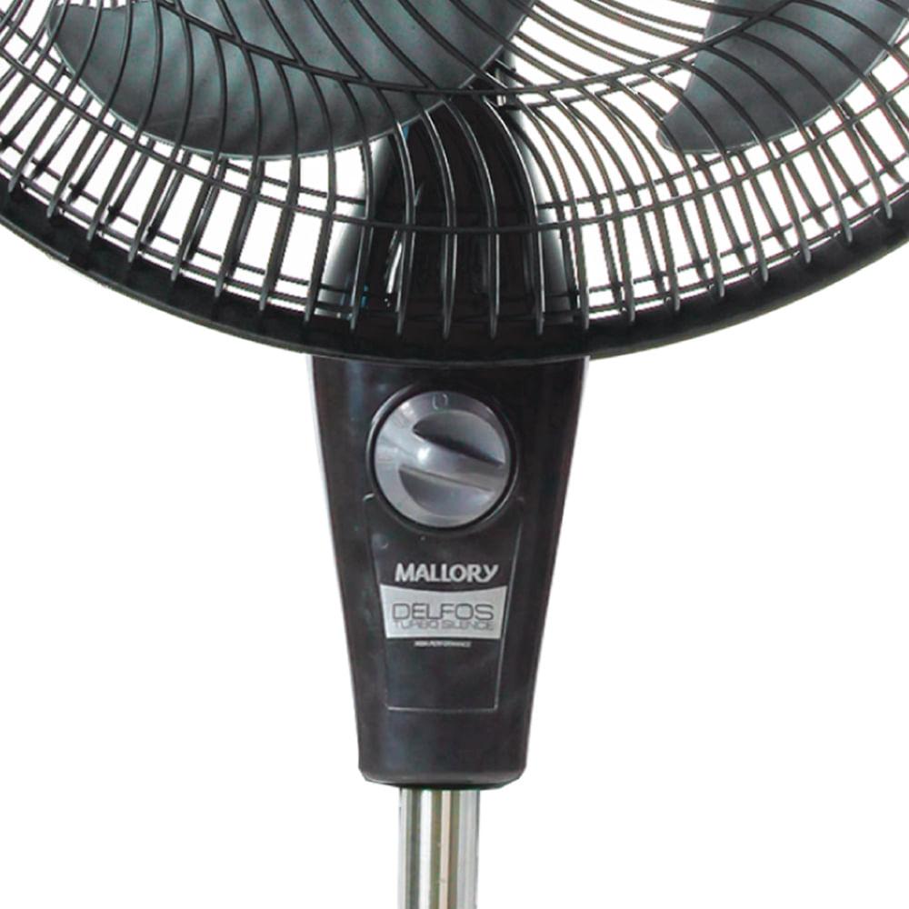 Ventilador  Mallory Delfos TS+ Preto Grafite
