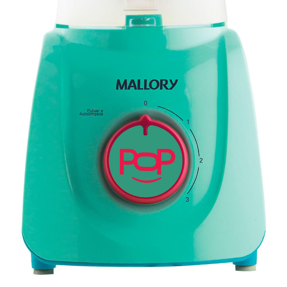 Liquidificador Mallory Tornado Pop Azul 520w
