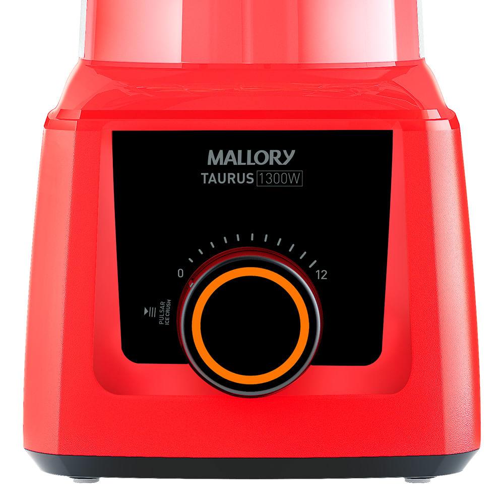 Liquidificador Mallory Taurus Vermelho 1300w