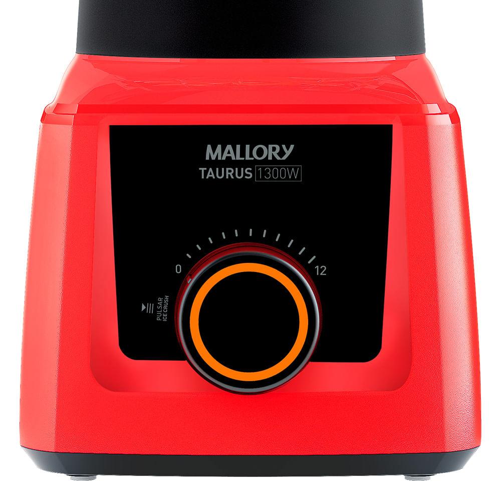 Liquidificador Mallory Taurus Glass Vermelho 1300w