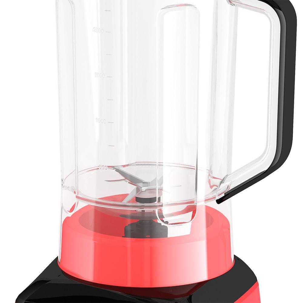 Liquidificador Mallory Taurus Smart - Copo de Plástico - Vermelho 1300w