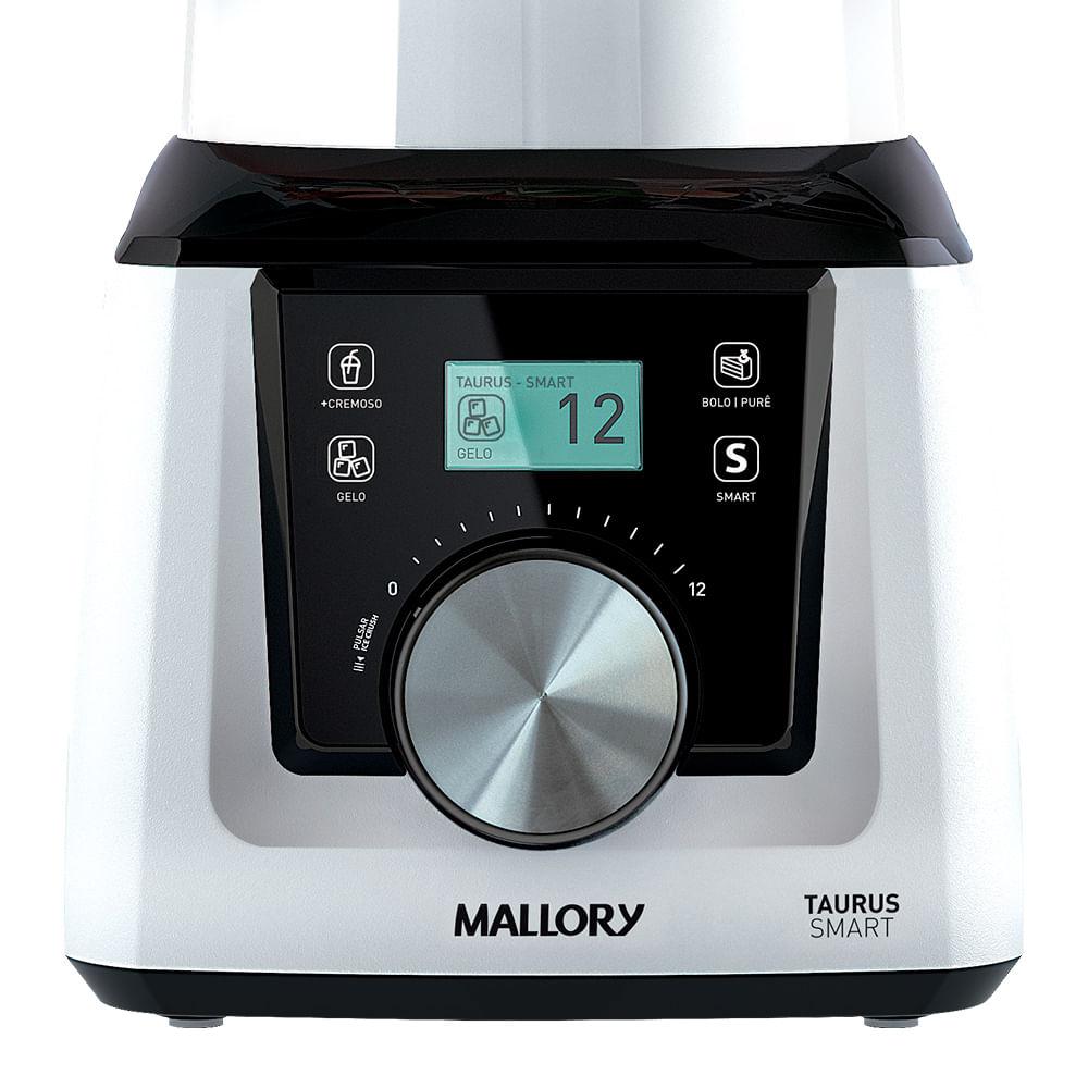 Liquidificador Mallory Taurus Smart - Copo de Plástico - Branco e Preto 1300w
