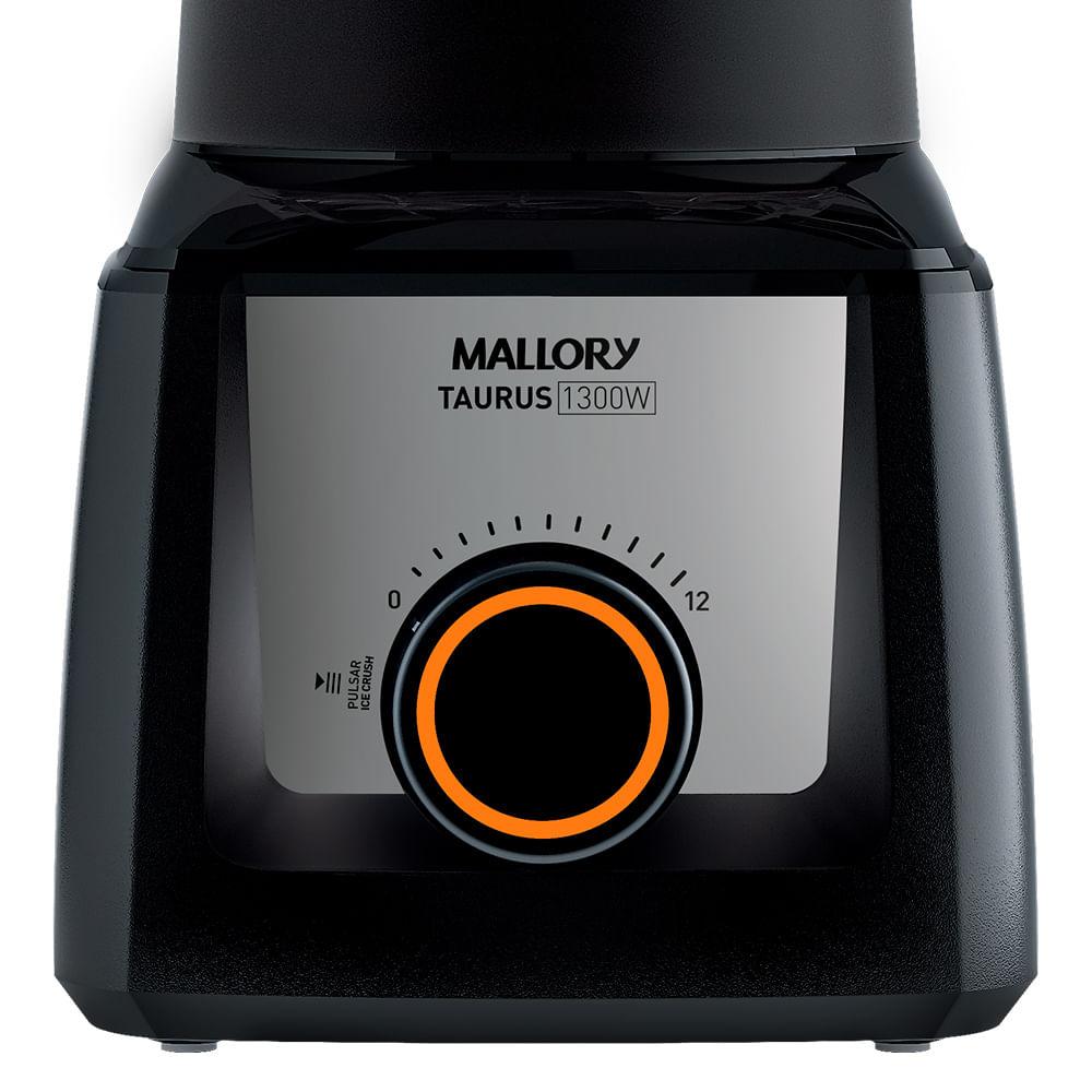 Liquidificador Mallory Taurus Glass Preto 1300w