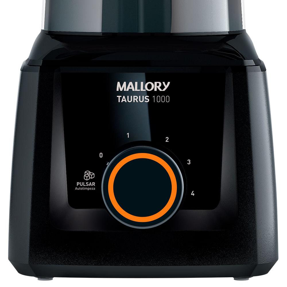 Liquidificador Mallory Taurus 1000 Preto 900w