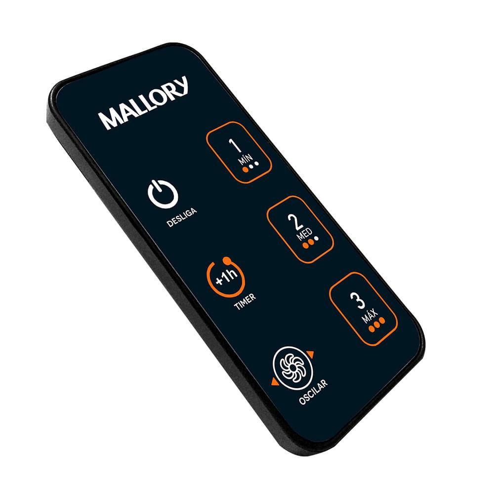 Ventilador Mallory  Neo Air 15 Total Control Preto Laranja